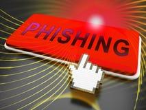 Rendu de la protection 3d de menace d'Internet d'email de Phishing illustration de vecteur