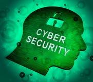Rendu de la sauvegarde 3d de système économique de sécurité de Cyber illustration libre de droits
