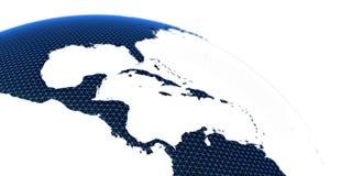 Rendu de la terre 3d de planète de concept du monde Images libres de droits