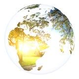 Rendu de la terre 3d de planète de concept du monde Image libre de droits