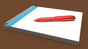 rendu de livre et de stylo 3d Photographie stock libre de droits