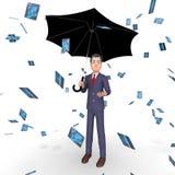 Rendu de Person And Banking 3d du show business de carte de crédit Photographie stock