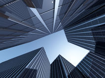 Rendu de Skyscapers 3d Photographie stock
