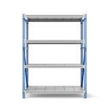 Rendu de support en métal avec quatre étagères, d'isolement sur un fond blanc Image stock