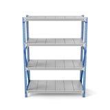 Rendu de support en métal avec quatre étagères, d'isolement sur un fond blanc Images stock