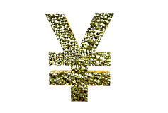 Rendu de Yuan Symbol 3d d'isolement sur un fond blanc Photo libre de droits