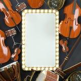 Rendu des instruments de musique 3D d'orchestre Images libres de droits
