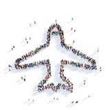 Rendu des personnes 3D d'avions illustration libre de droits