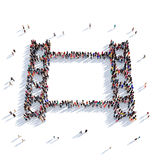 Rendu des personnes 3D de cinéma de bande de film Illustration Libre de Droits