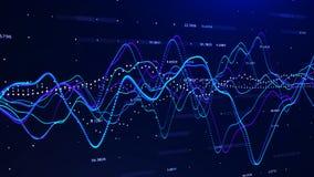 Rendu du concept 3d de graphique d'investissement de graphique de marché boursier illustration libre de droits