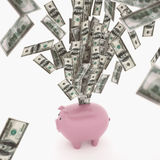 Rendu du concept 3D de richesse économique Photos stock