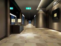 Rendu du couloir moderne Photos stock