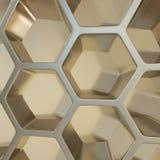 Rendu du fond abstrait de nano en métal Photographie stock libre de droits