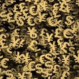 Rendu du fond 3d de symbole monétaire Photos stock