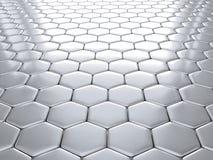 Rendu du fond nano métallique abstrait Photo stock