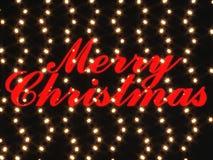 Rendu du Joyeux Noël 3d Photo stock