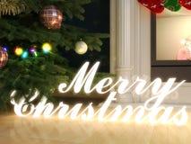 Rendu du Joyeux Noël 3d Photo libre de droits