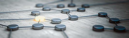 Rendu du panorama 3d de concept de connexion Image libre de droits