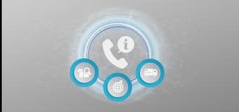 Rendu du service 3d de client et de ligne directe d'aide Illustration Stock