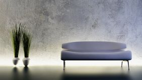 Rendu du sofa 3D Images stock