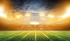 rendu du stade 3d Photo stock
