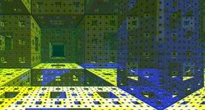 Rendu en acier de la construction 3d de fond métallique Images stock