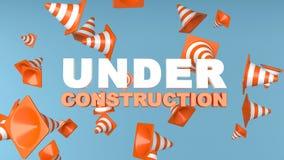 Rendu en construction du fond 3d de page image stock