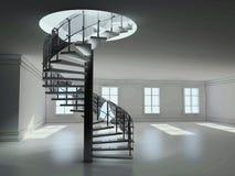 Rendu en spirale de l'escalier 3D Images libres de droits