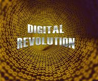 Rendu futuriste de l'industrie 3d de concept de révolution de Digital illustration de vecteur