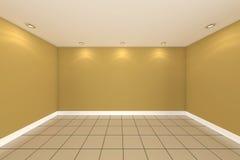 Rendu intérieur à la maison avec le mur vide de couleur de pièce Photo libre de droits