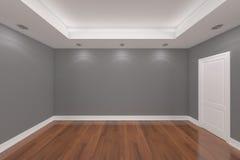 Rendu intérieur à la maison avec le mur vide de couleur de pièce Photographie stock