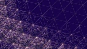 Rendu moderne abstrait du fond 3d de fil illustration de vecteur
