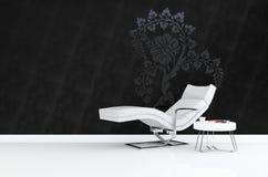 Rendu moderne du fauteuil 3D Photographie stock libre de droits