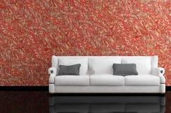 Rendu moderne du sofa 3D Images libres de droits