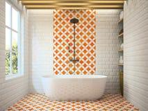 Rendu moderne intérieur de la salle de bains 3D Photos stock