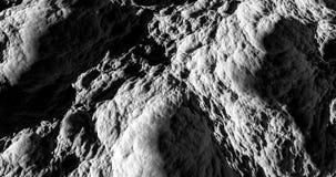 Rendu noir et blanc de la surface 3d de lune Photographie stock
