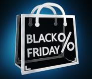 Rendu numérique des icônes 3D de ventes de Black Friday Illustration Libre de Droits
