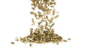 Rendu réaliste des barres d'or 3D Isolat sur le blanc Photo stock