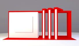 Rendu rouge du support 3d d'exposition Image libre de droits