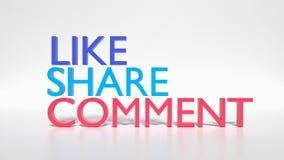 Rendu social des signes 3d de media Image stock