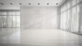 Rendu vide de salle blanche 3D Images stock