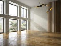 Rendu vide intérieur de salle 3D Image libre de droits