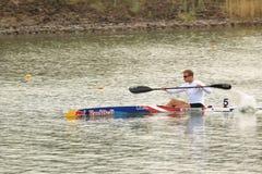 Rene Poulsen - kayak sprint Royalty Free Stock Photos