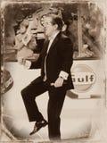 Rene Rancourt, chanteur d'hymne national de Boston Bruins photos libres de droits