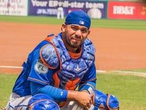 Rene Rivera Catcher New York Mets 2017 Royalty-vrije Stock Fotografie