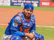 Rene Rivera Catcher New York Mets 2017. #44 Rene Rivera catcher for New York Mets in Florida 2017 for spring training royalty free stock photography