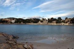 Renecro海滩在Bandol在法国海滨,法国 库存图片