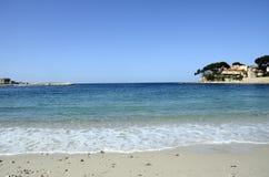Renecros beach in Bandol, France. Renecros beach on mediterranean sea, french riviera in Bandol, France Royalty Free Stock Photos