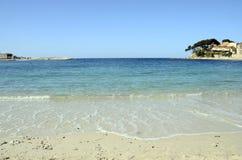 Renecros beach in Bandol, France. Renecros beach on mediterranean sea, french riviera in Bandol, France Royalty Free Stock Photography