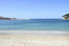 Renecros beach in Bandol, France. Renecros beach on mediterranean sea, french riviera in Bandol, France Stock Photography